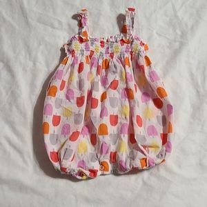 giggle Bubble Romper - Popsicle, 18-24 mos